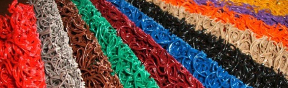 Materiali per tappeti ricciolo di diversi colori