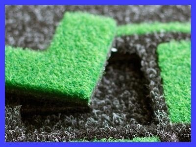 uno zerbino nero e verde
