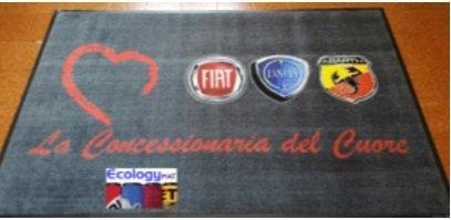 Tappeto con marchio AB Auto La Concessionaria del Cuore