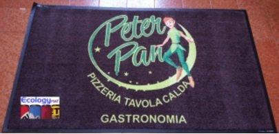 Tappeto personalizzato con marchio Peter Pan Pizzeria Tavola Calda Gastronomia