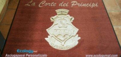 Tappeto personalizzato con marchio La Corte dei Principi