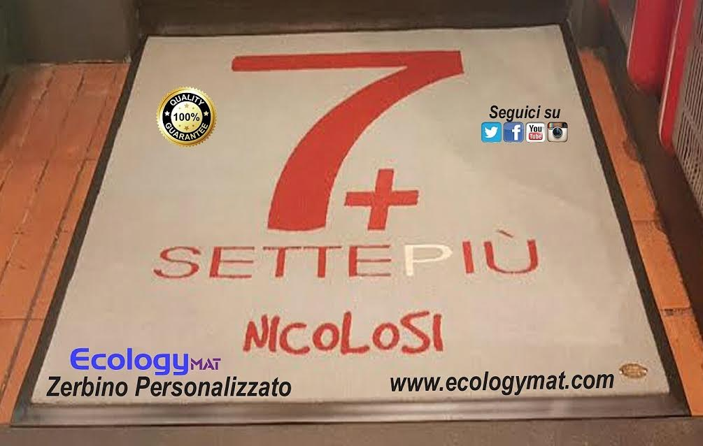 Tappeto personalizzato con marchio 7+ SettePiù Nicolosi