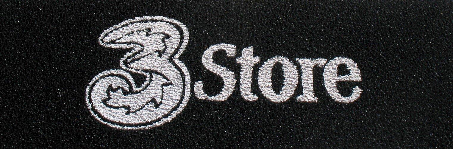 Tappeto personalizzato con marchio 3 Store