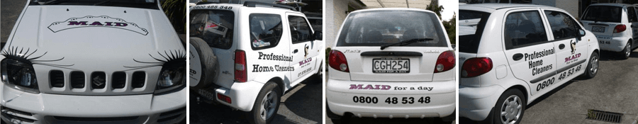 Domestic cleaning expert's cars in Tauranga