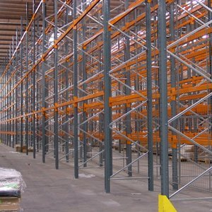 racks in a warehouse