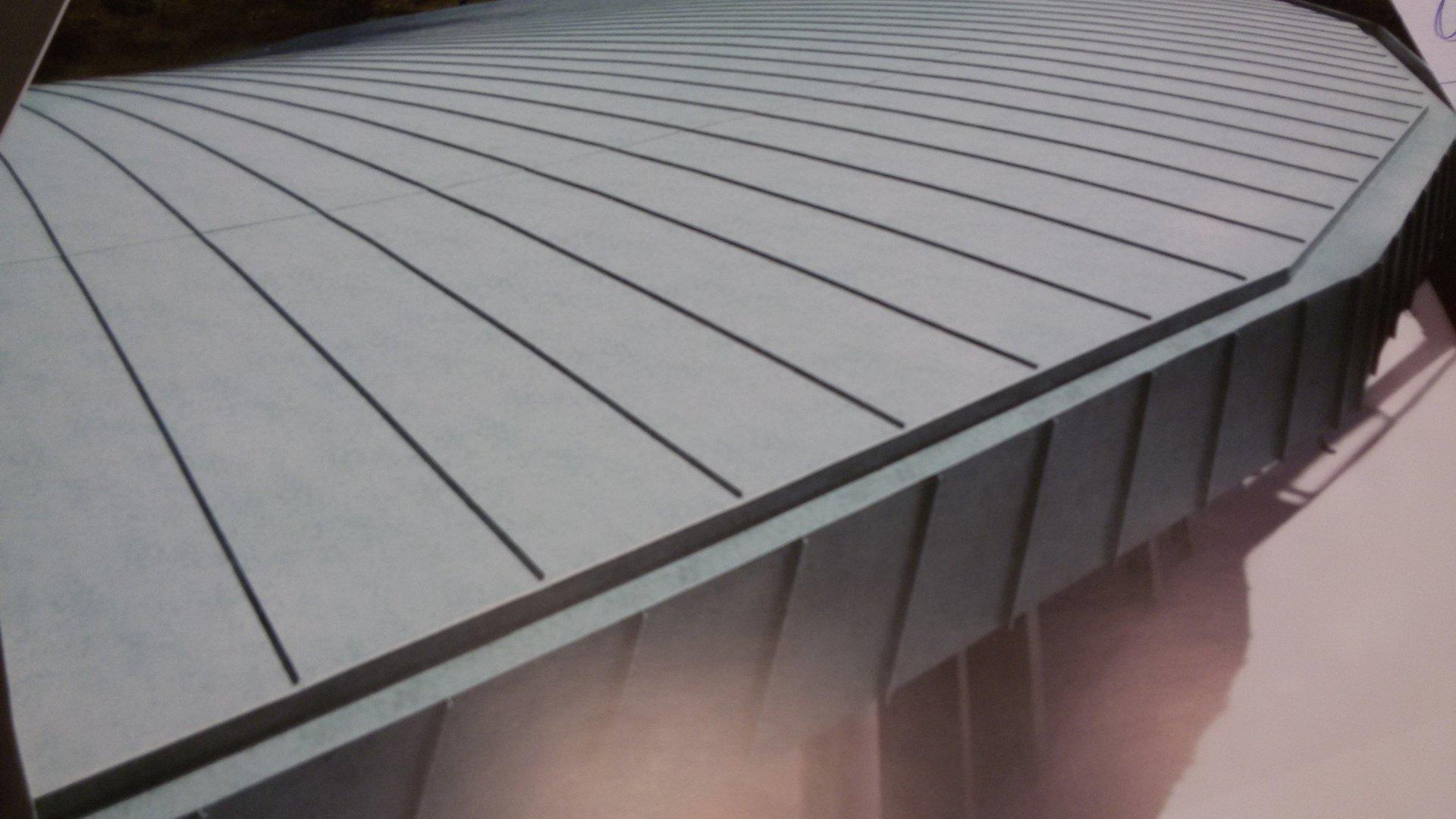 esempio di tettoia con struttura in lamiera 13