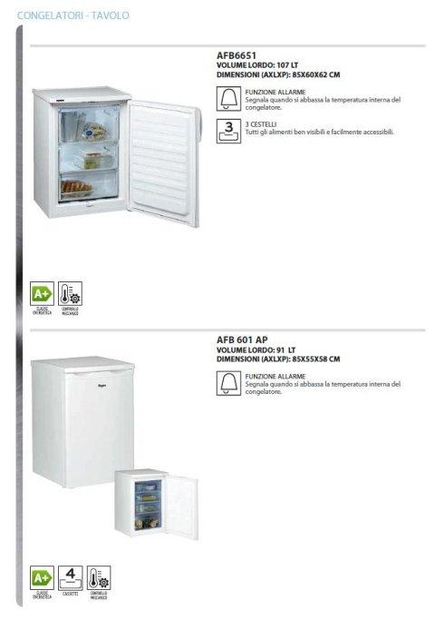frigoriferi e congelatori libera installazione whirlpool