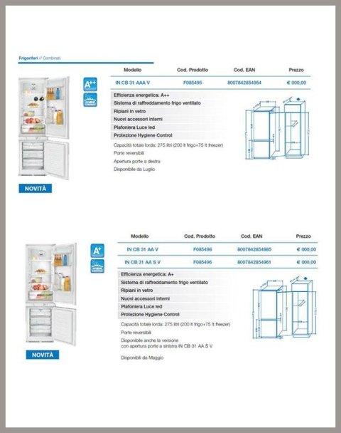 frigorifero ad incasso indesit