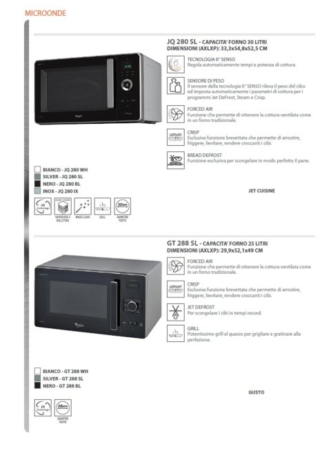 forno a microonde whirlpool