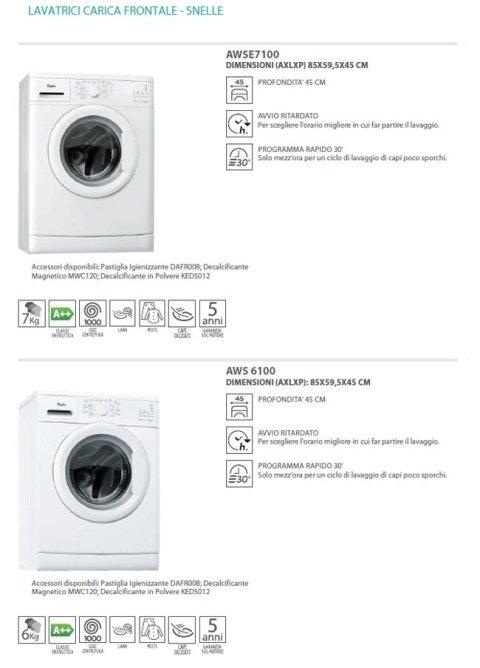 lavatrici e asciugatrici free standing whirlpool