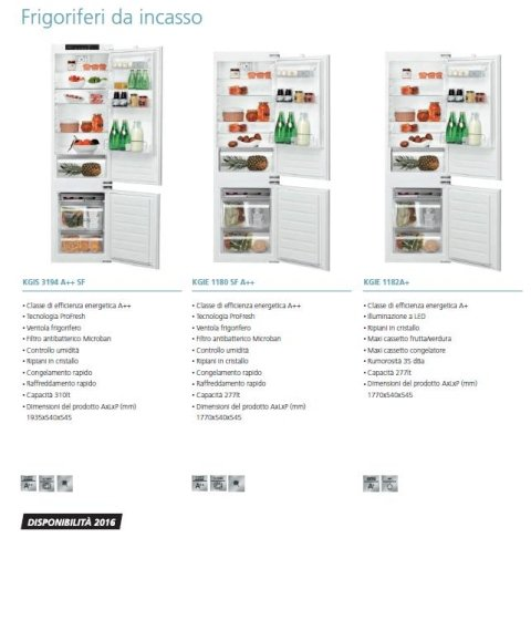 frigoriferi ad incasso bauknecht