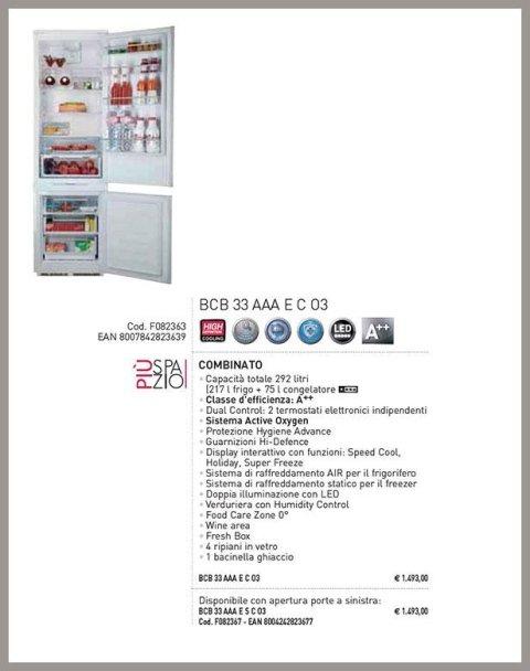 frigoriferi da incasso