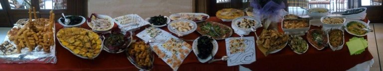 Tavola buffet di antipasti