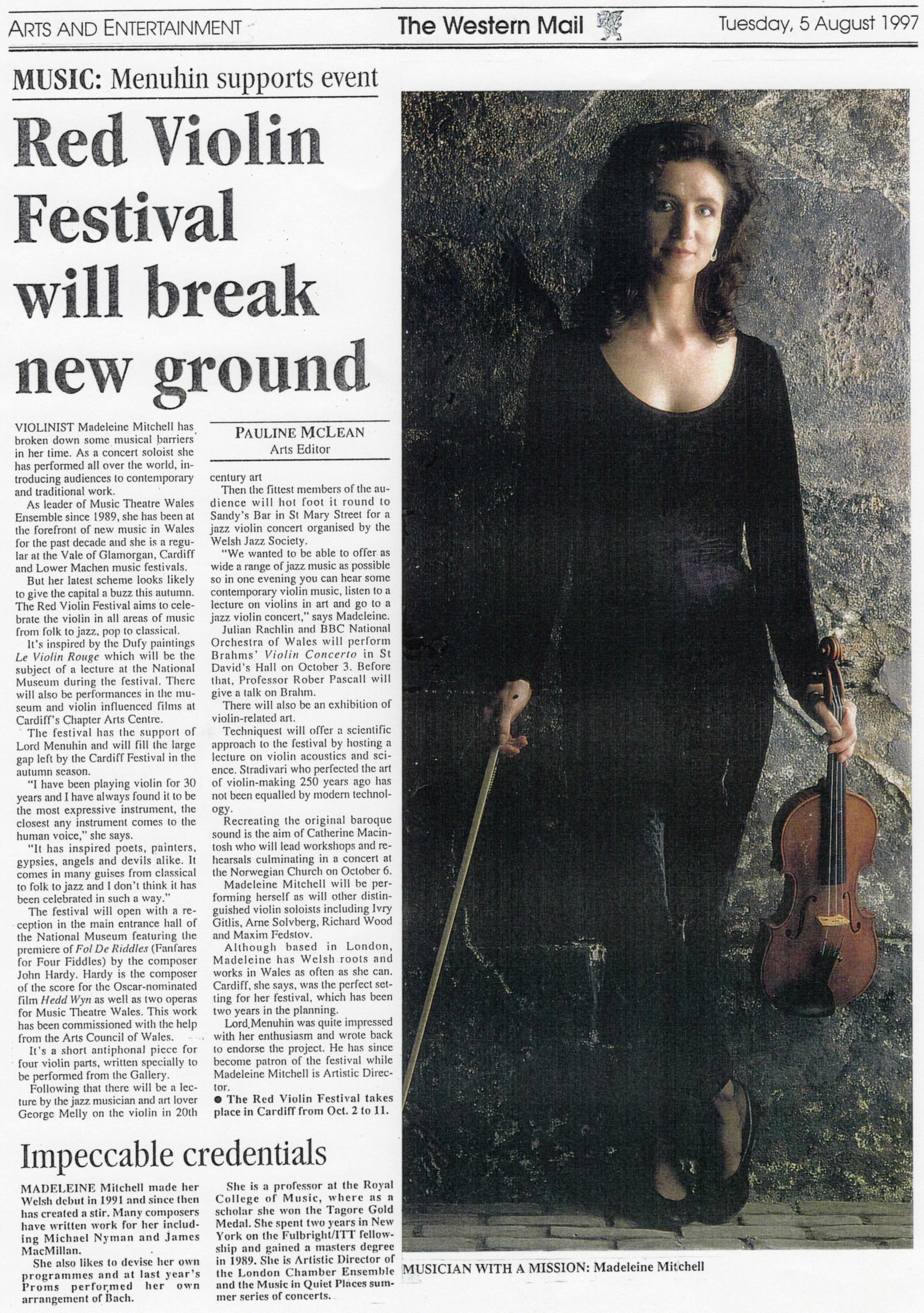 Western Mail Red Violin