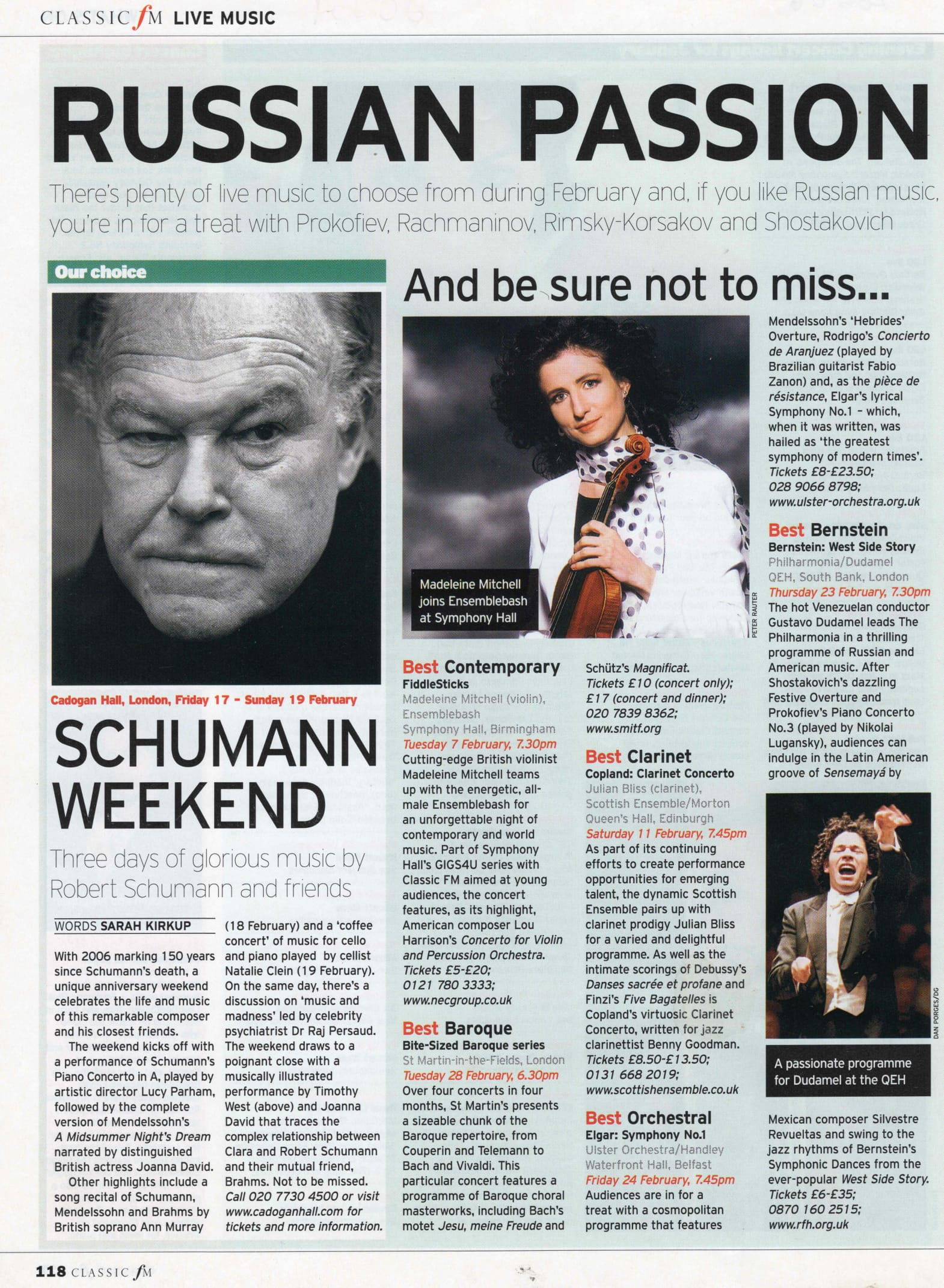 Classic FM Magazine: Choice of the Month