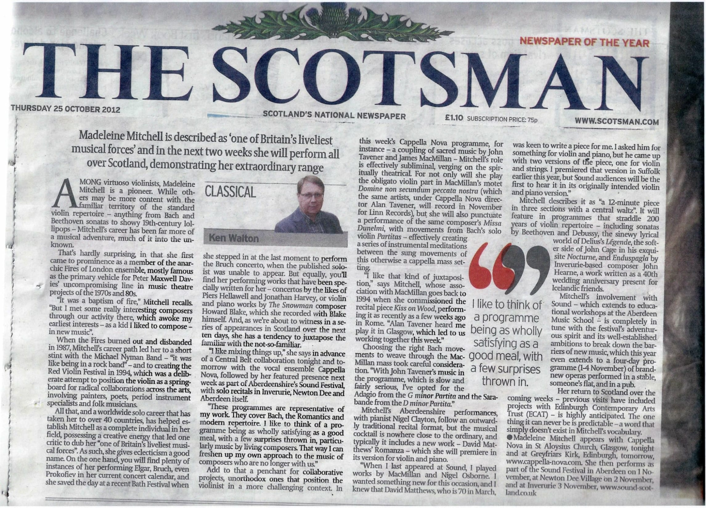 The Scotsman Profile