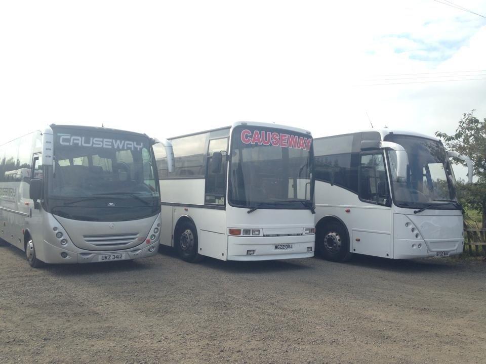 3 spacious buses