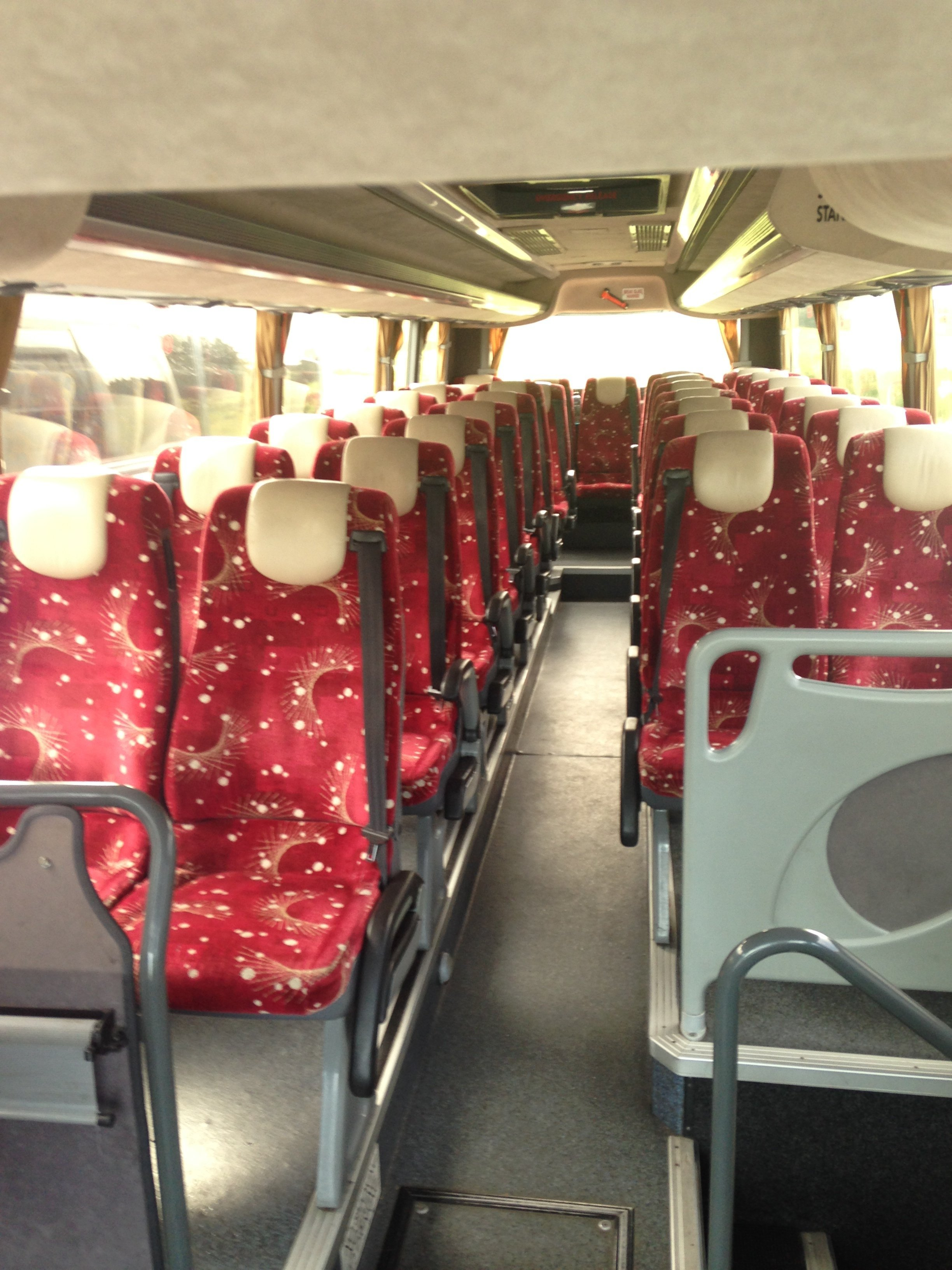 seats inside the bus