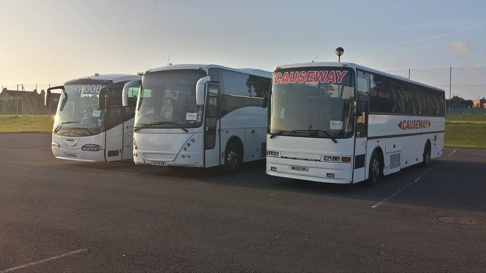 front view of the buses