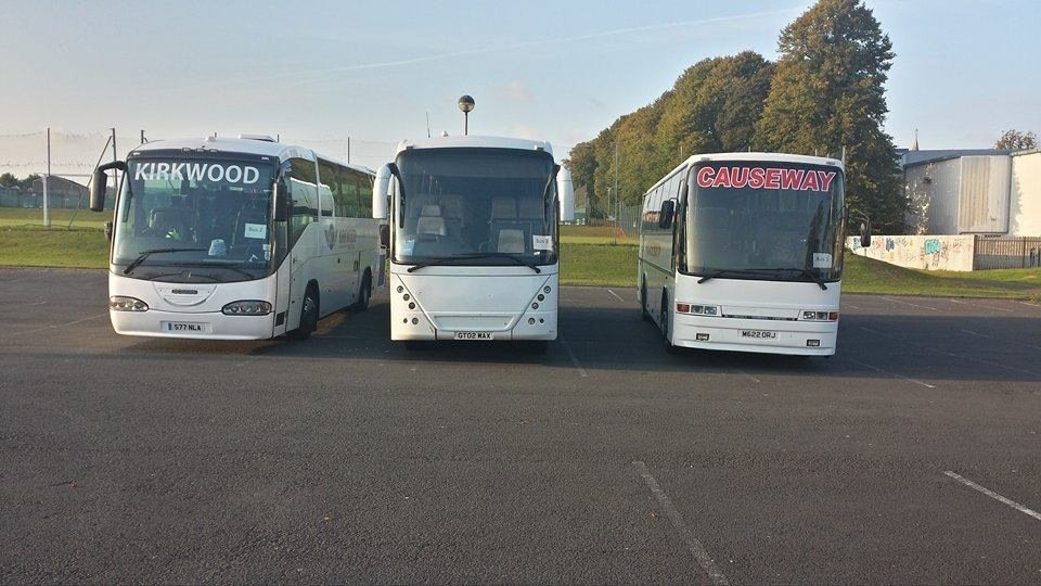 buses parked