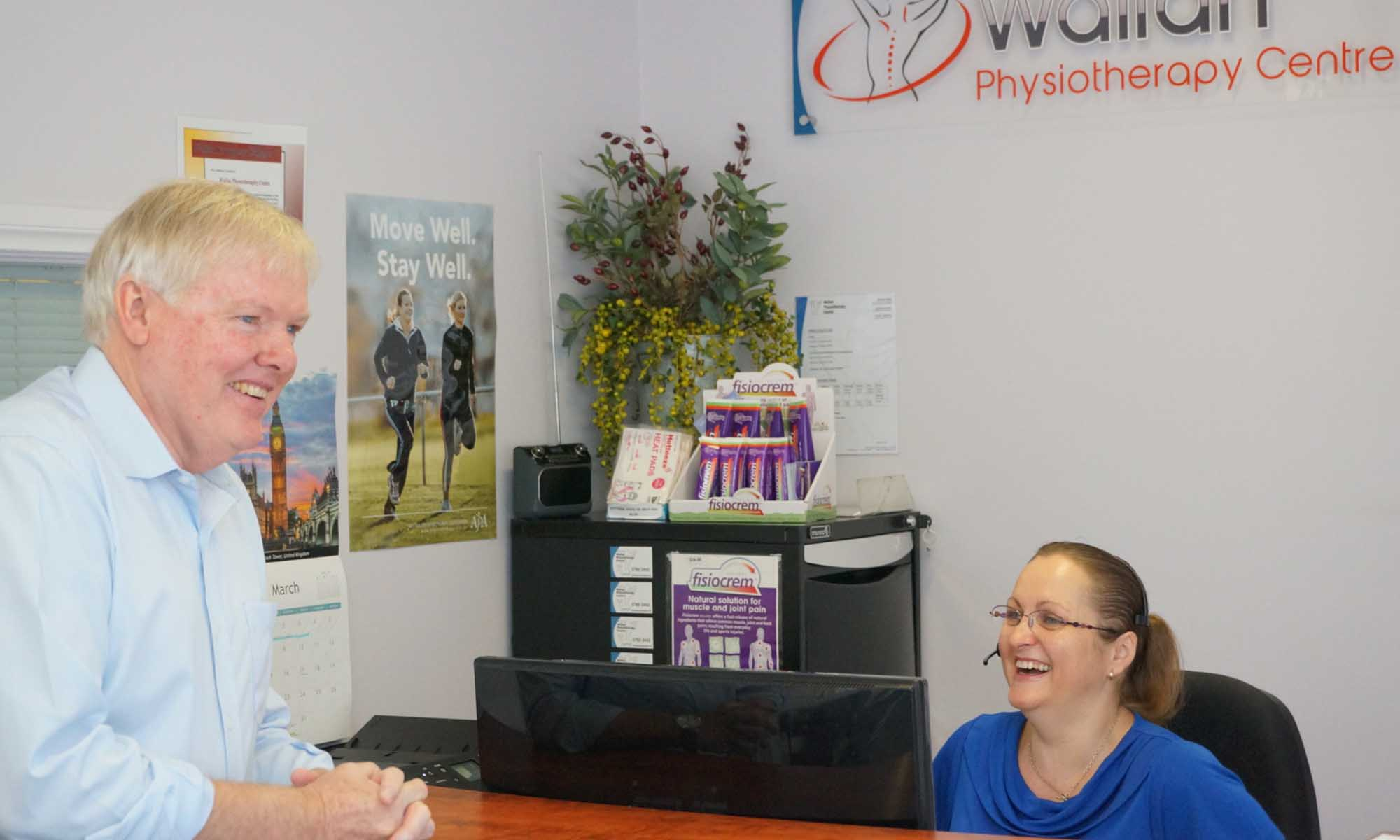 Wallan Physiotherapy Centre receptionist