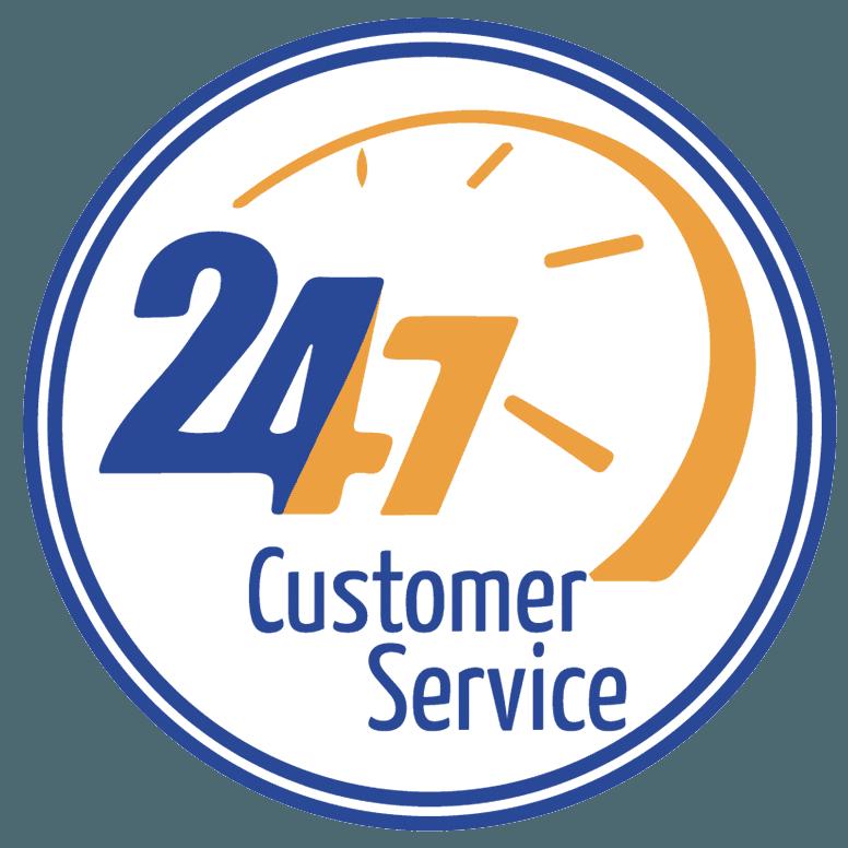 24-7 customer service logo