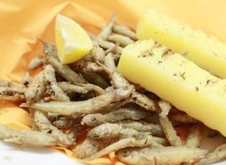 pesce fritto con polenta