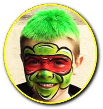Teenage mutant ninja turtles face paint