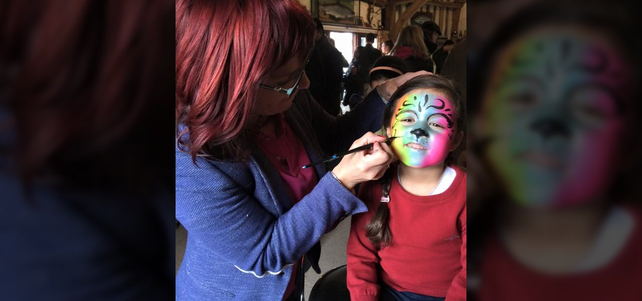 Artistic face paintings