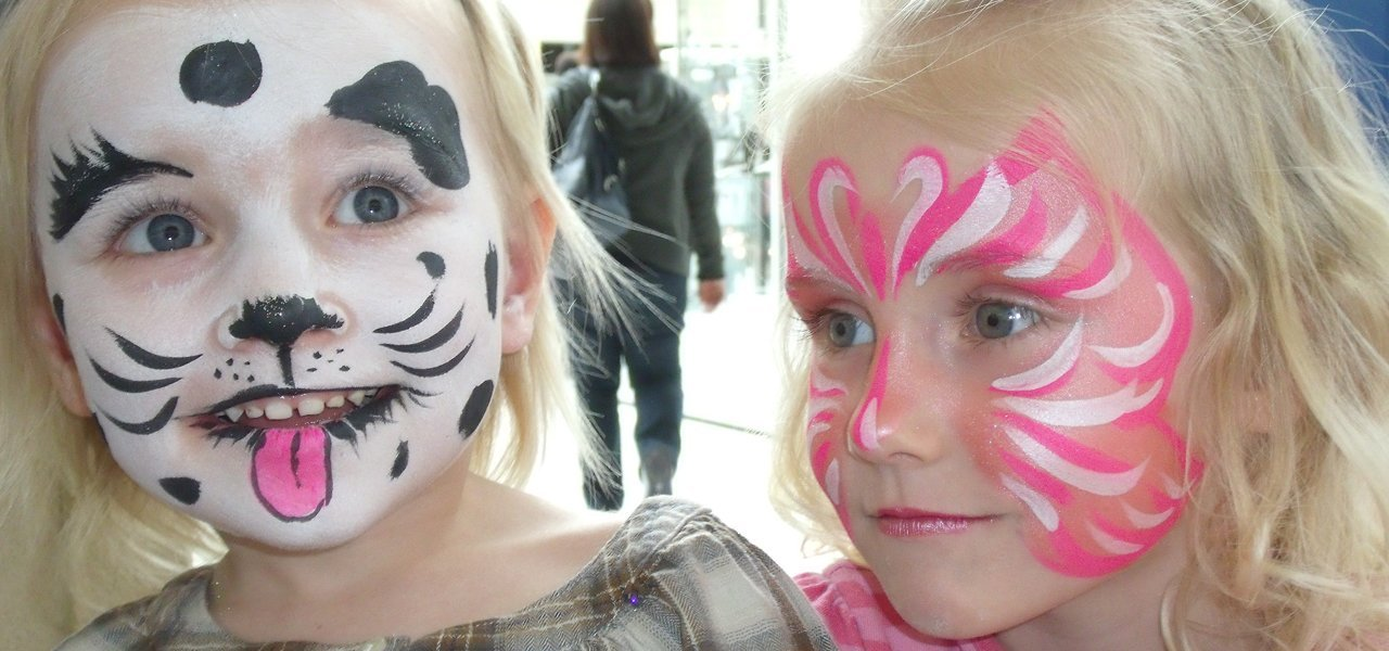 Face painting event in birthday parties