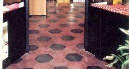 pavimenti, composizioni esagone, mosaici