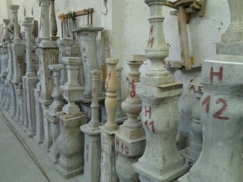 riprodurre pezzi, campione da riprodurre, stampi in cemento