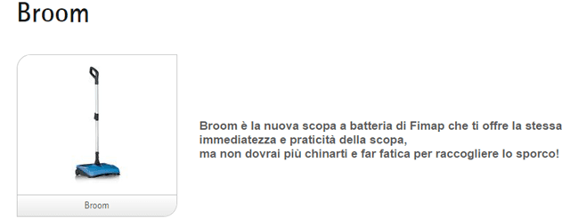 Assistenza spazzatrice Broom Fimap