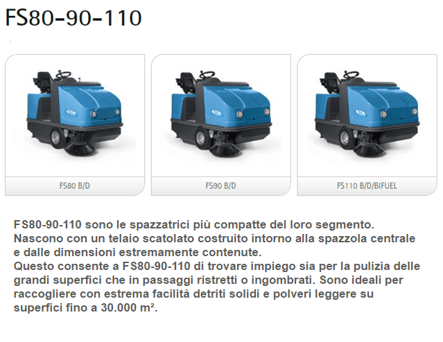 Assistenza Spazzatrici Fimap fs80 - 90 - 110