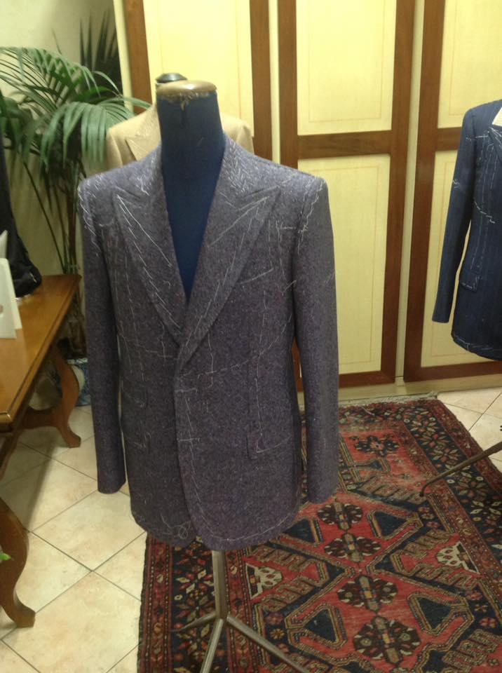 giacca grigia da uomo