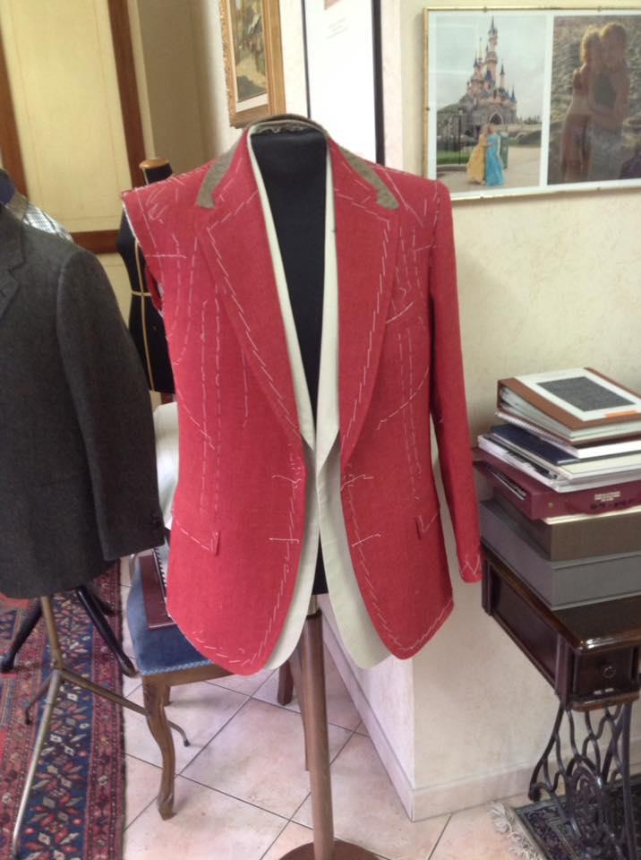 giacca uomo rossa