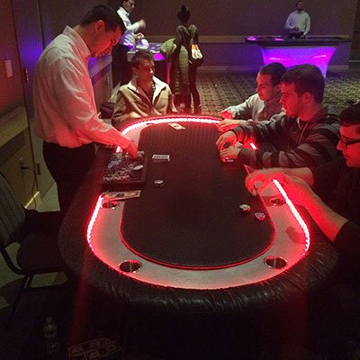 People playing in casino
