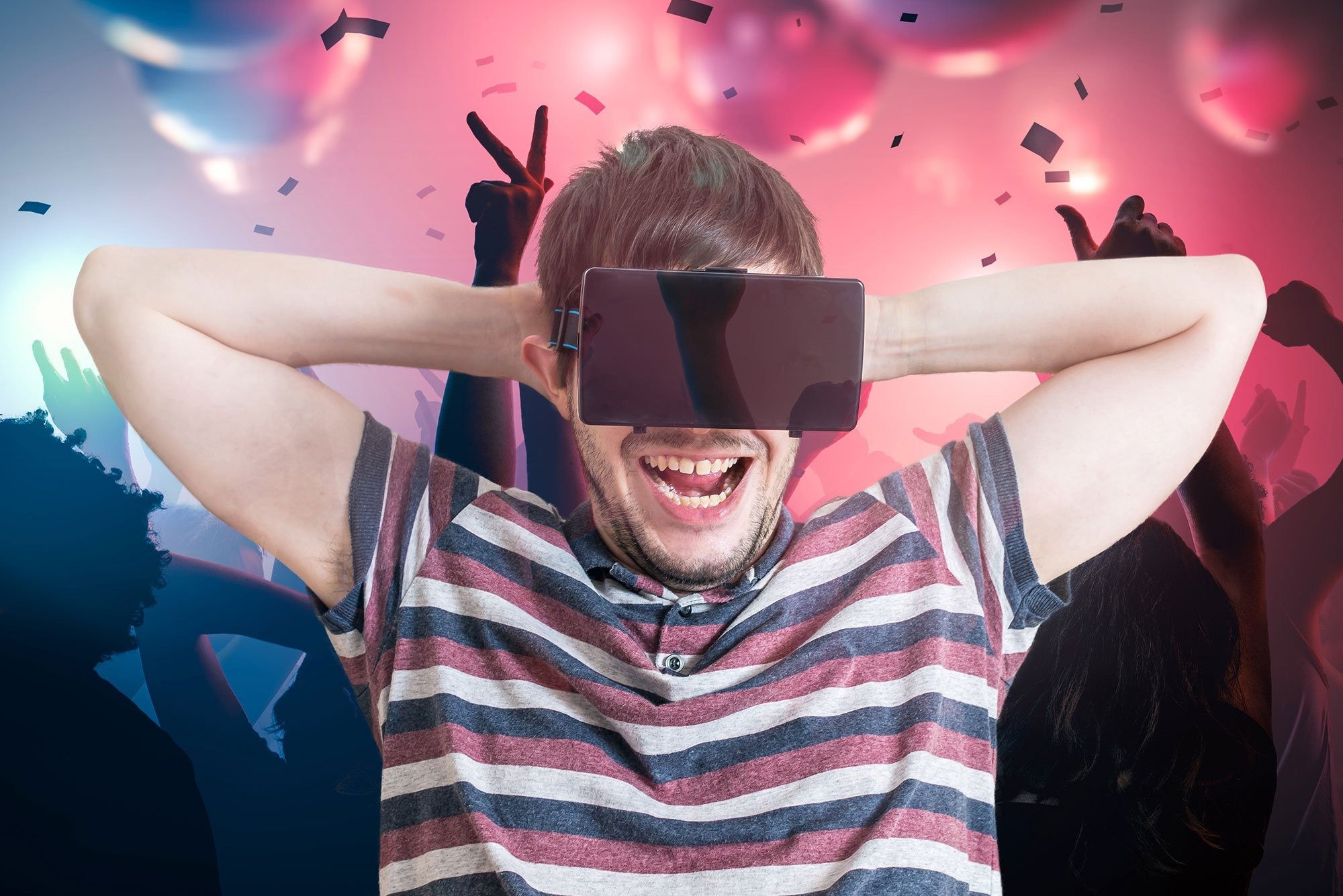 Virtual reality at a party