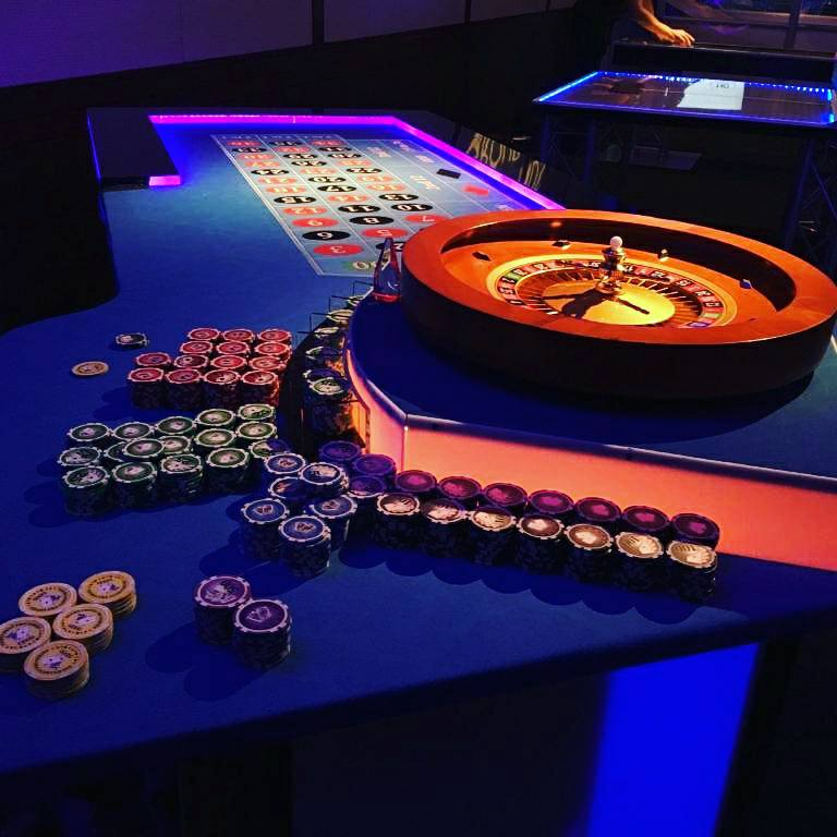One of our casino tables for rent in Bergen County, NJ