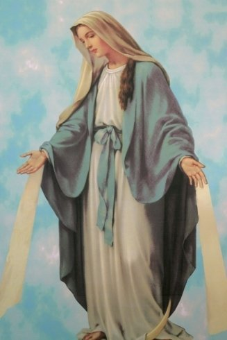 un'immagine della Madonna
