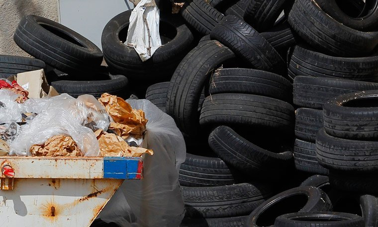 tyres and rubbish