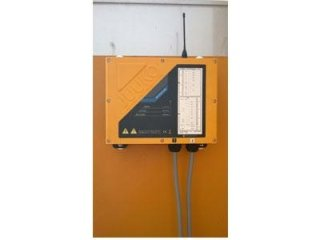 Radiocomando su gru edile