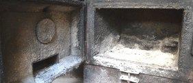 pulizia di forni a legna