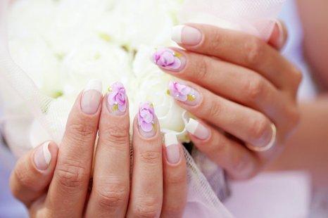 manicure for bride