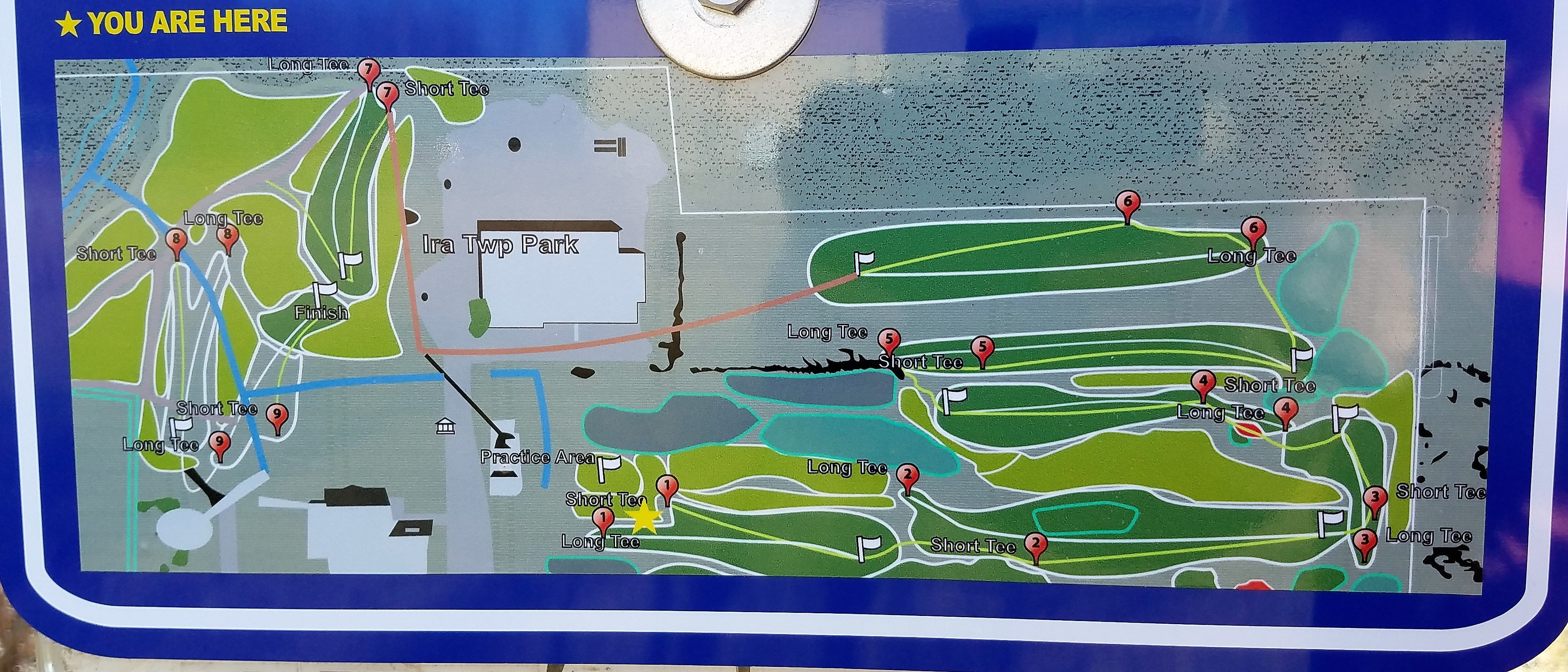 Ira Township Disc Golf Map