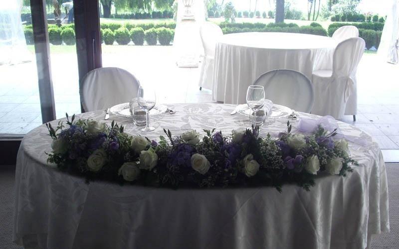 decorazione tavolo nuziale