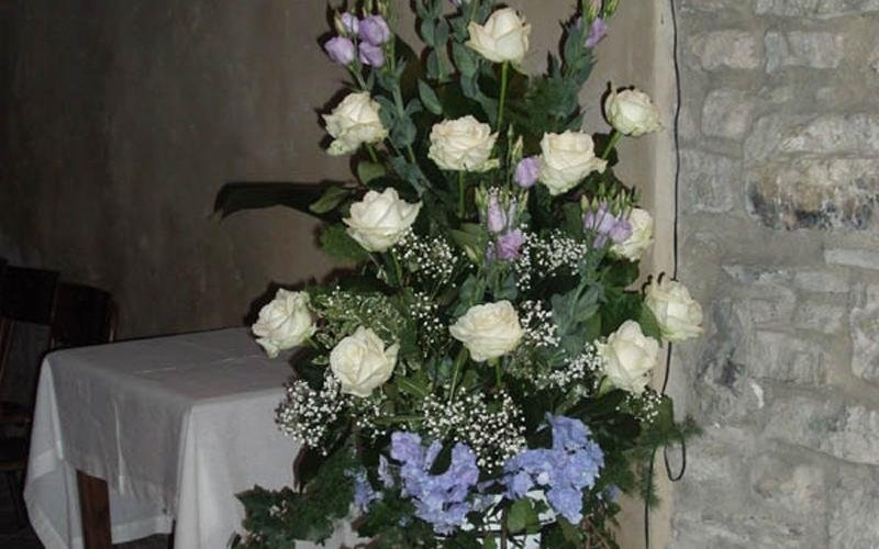 decorazione floreale verticale