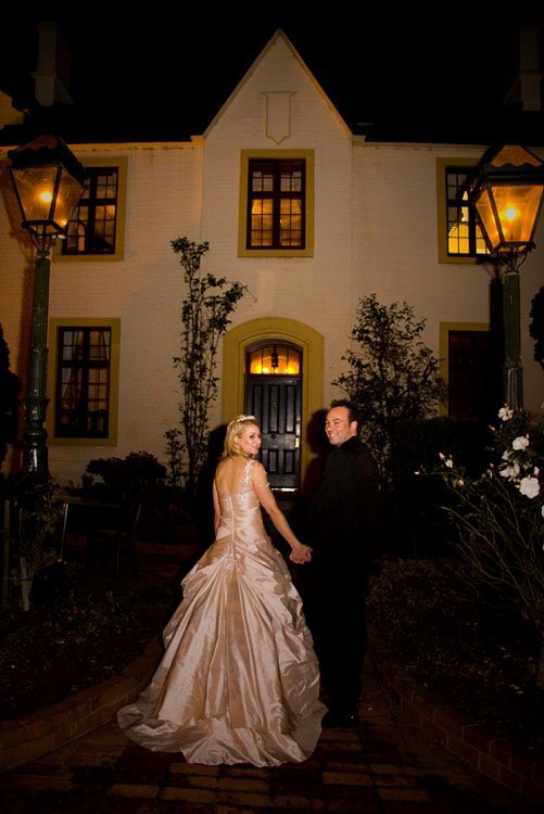 Mr and Mrs Stone in Colonial hotel gardens