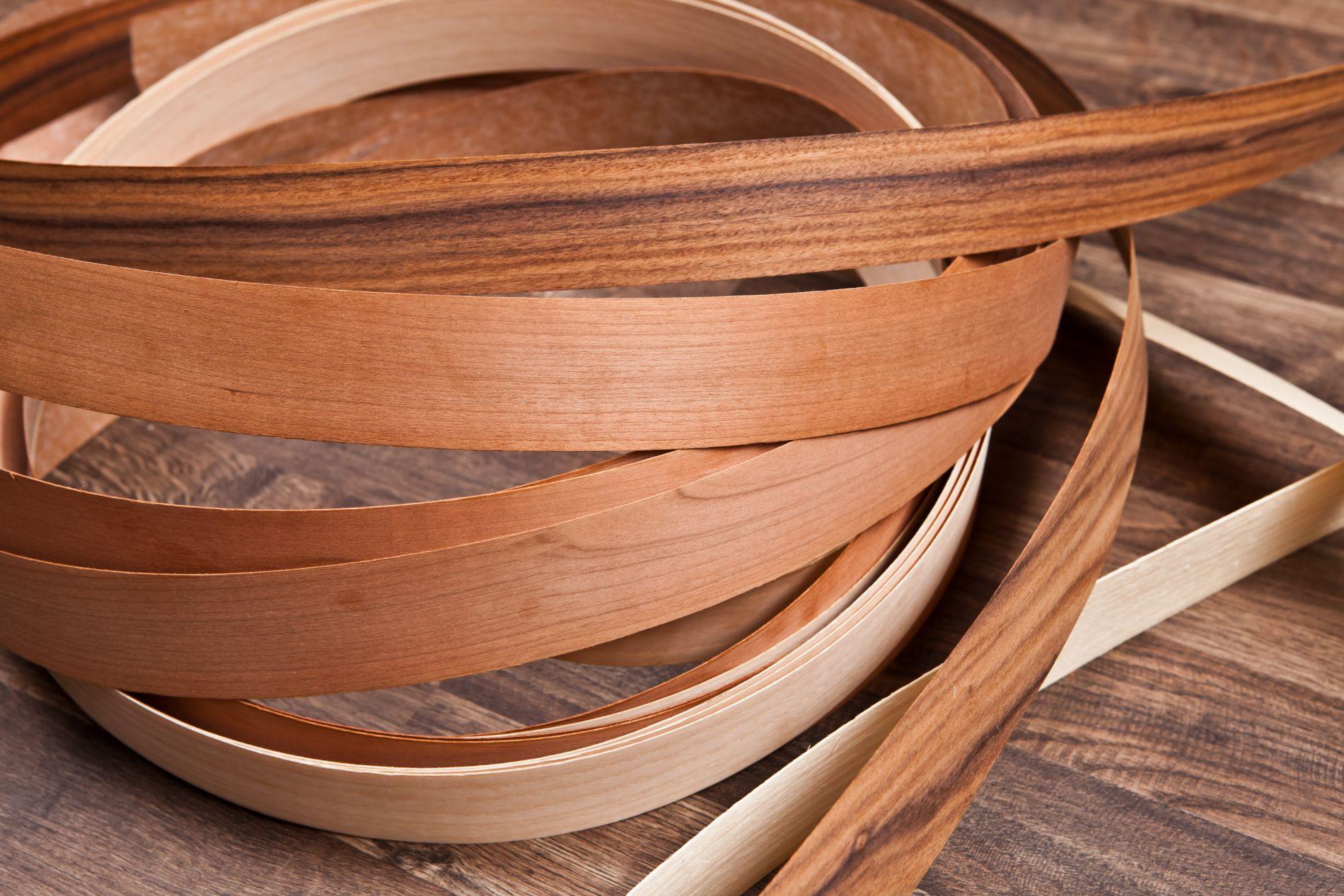 sezioni di tranciati di legno