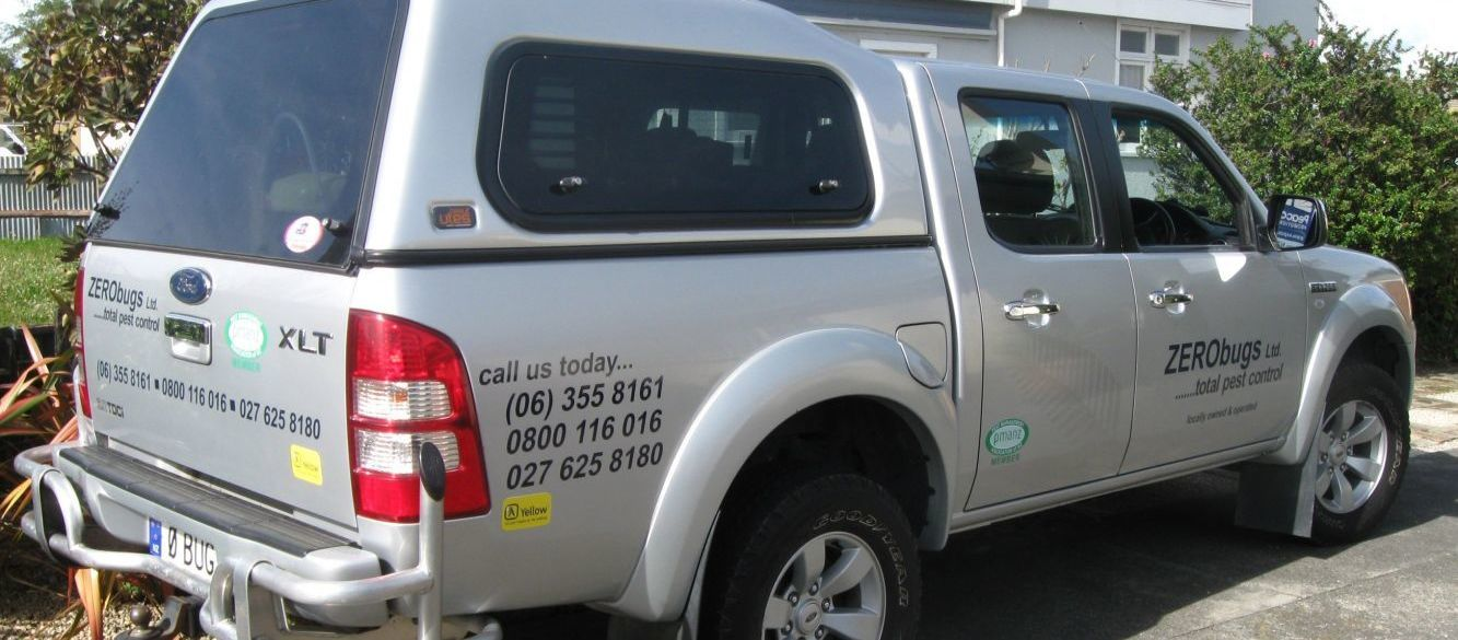 Pest control truck in Palmerston North